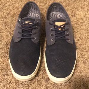 Vans Men's sneakers. Blue with tan accents